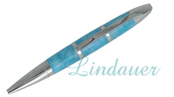 Lindauer Mini Kugelschreiber Acryl hellblau
