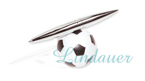 Kugelschreiber auf Fußball-Ständer
