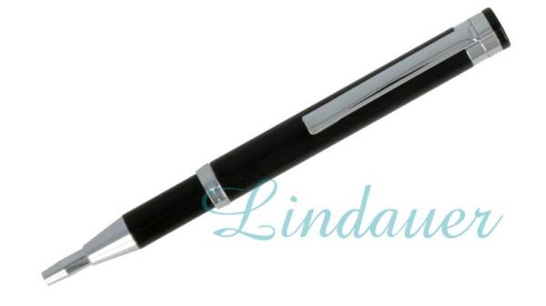 Teleskop-Kugelschreiber, matt-schwarz
