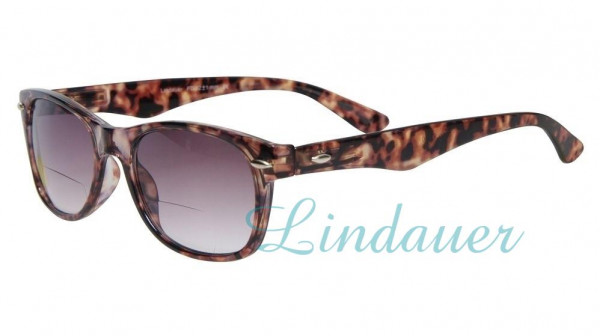Sonnenbrille und Lesehilfe; bifokal; Schildkröte