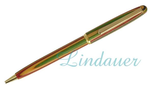 Holzkugelschreiber, extra schlanke Ausführung. Bun