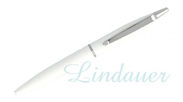 Mini-Kugelschreiber weiß-gummiert
