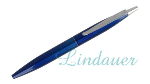 Mini-Kugelschreiber blau-metallic