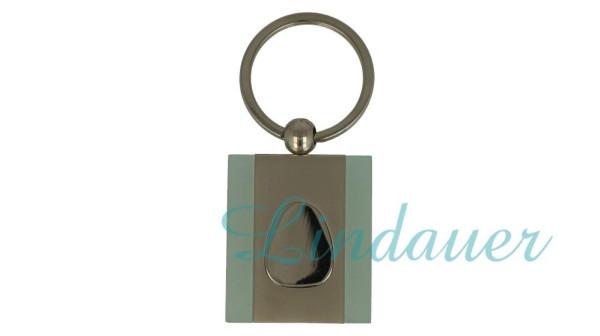 Schlüsselanhänger chrom/ türkis