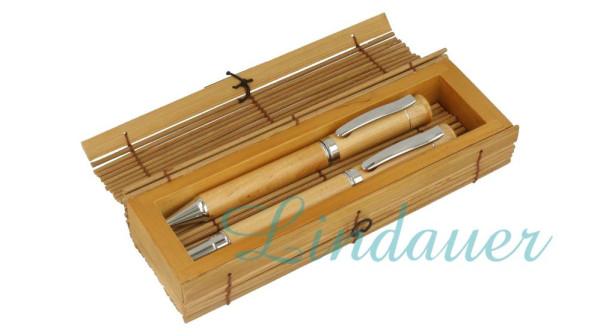 Bambusetui, passend für 3 Schreibgeräte.