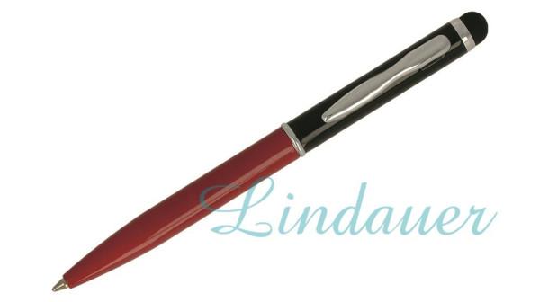 Mini-Kugelschreiber Touch schwarz rot