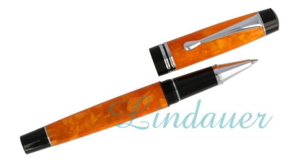 Roller orange-marmoriert