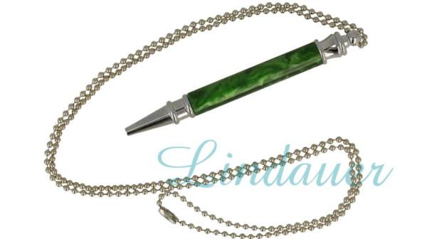 Mini - Kugelschreiber aus Celluloid mit Kette