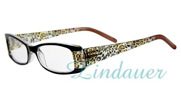 Lesehilfe; schwarz/Leopard