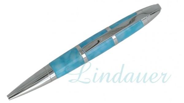 Lindauer Mini Kugelschreiber Acryl blau
