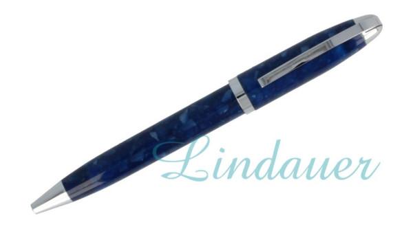 Mini-Kugelschreiber in blau marmoriert