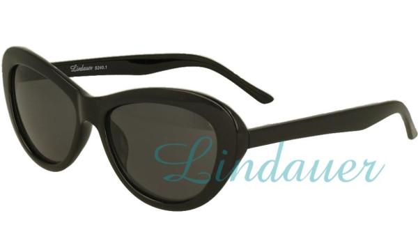 Sonnenbrille in scheinendem schwarz