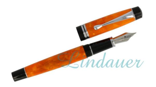 Füllfederhalter orange-marmoriert