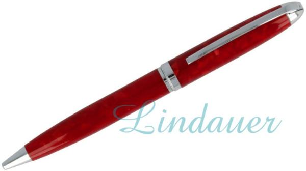 Kugelschreiber in rot marmoriert