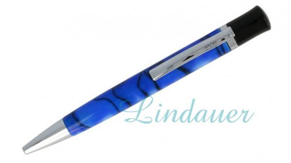 Lindauer Kugelschreiber blau-marmoriert