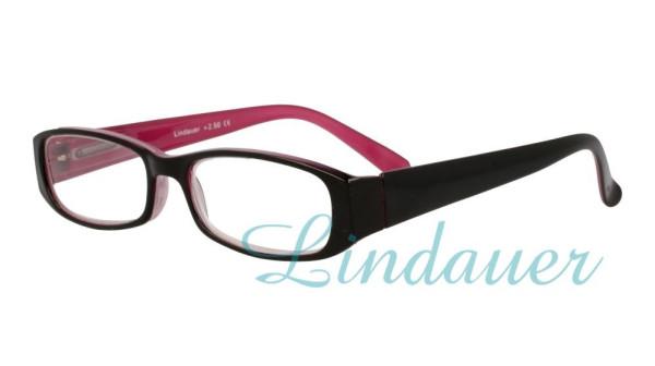 Lesehilfe; schwarz/pink