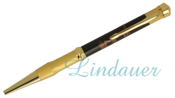 Kugelschreiber, schwarz- u. goldfarben.