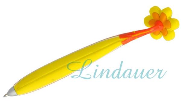 Magnetkugelschreiber Blume gelb