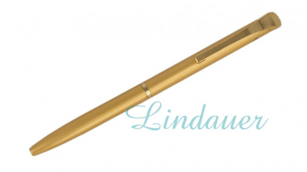 Mini-Kugelschreiber in goldenem Look