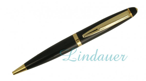 Mini-Kugelschreiber, schwarz.