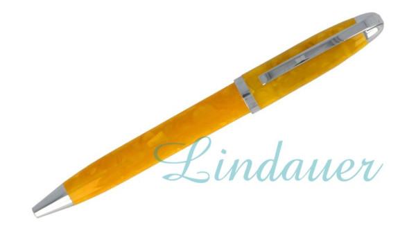 Mini-Kugelschreiber gelb marmoriert