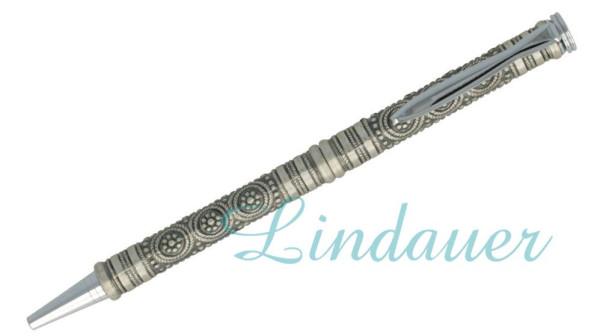 "Kugelschreiber, "" Antik Silber "". Motiv: Kreis."