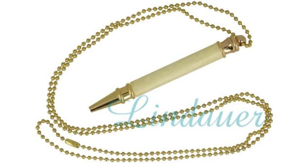Mini - Kugelschreiber aus Zelluloid, mit Kette,
