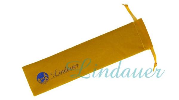 Samtbeutel für ein Schreibgerät in gelb