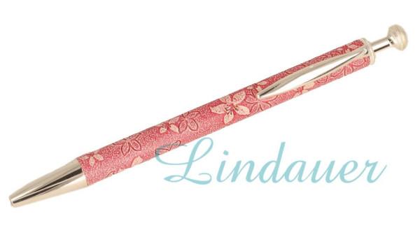 Kugelschreiber mit Blütenmotiv