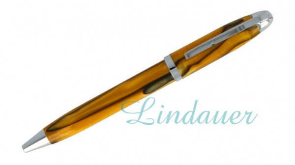 Kugelschreiber im Tiger-Design, orange-schwarz