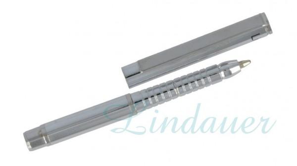 Mini Metall-Kugelschreiber chrom-glänzend