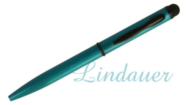 Mini-Kugelschreiber Touch türkis-blau