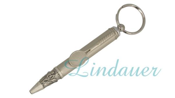 TENNIS3 Kugelschreiber, Antik Silber/Ringhalterung