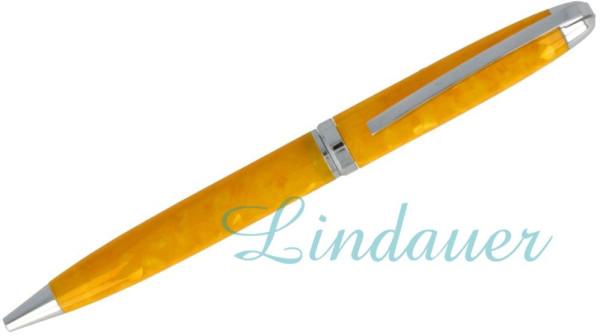 Kugelschreiber in gelb marmoriert