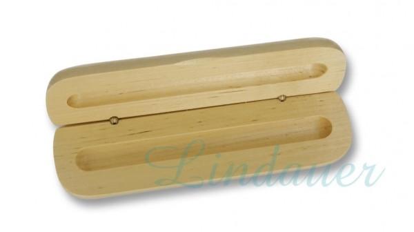 Holzetui hell, passend für 1 Schreibgerät.