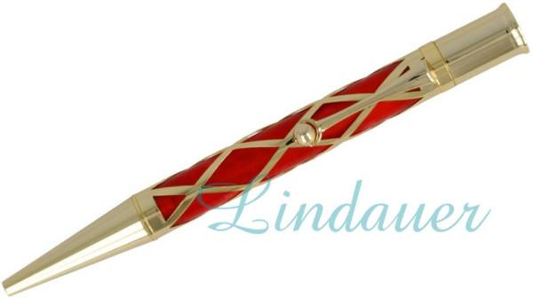 Netzkugelschreiber in rot-silber