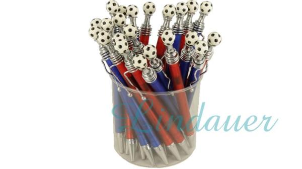 Kugelschreiber mit Drücker als Fussball