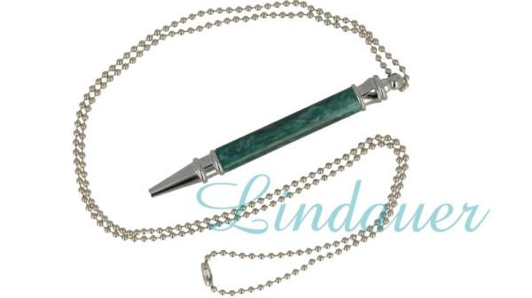 Mini - Kugelschreiber aus Zelluloid mit Kette