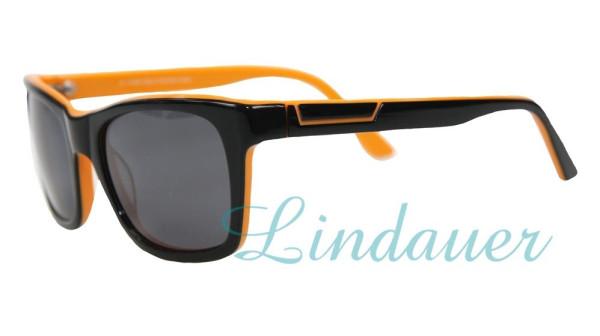 Sonnenbrille, schwarz/orange