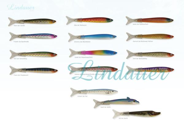 Fischkugelschreiber 72 x sortiert