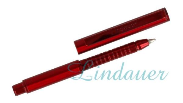 Mini Metall-Kugelschreiber rot-metallic
