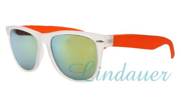 Sonnenbrille, transparent/orange