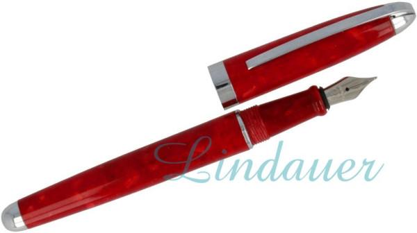 Füller in rot marmoriert