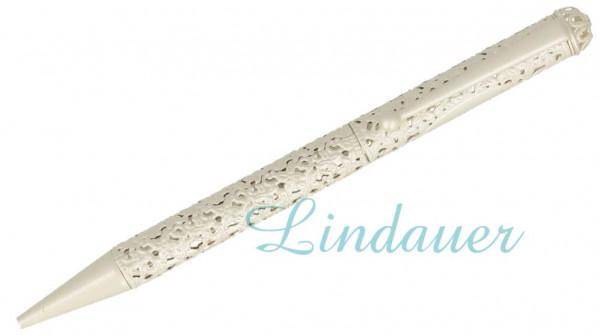 Diamant Kugelschreiber in silber matt