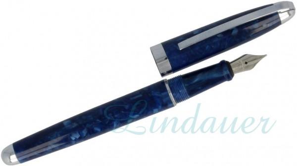 Füller in blau marmoriert