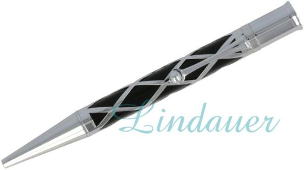 Netzkugelschreiber in schwarz
