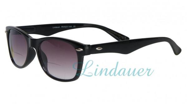 Sonnenbrille und Lesehilfe; bifokal; schwarz