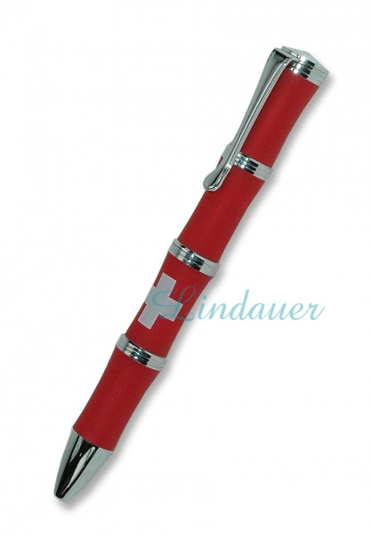 Kugelschreiber rot / Schweizer Kreuz
