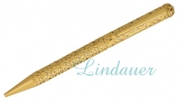 Diamant Kugelschreiber in gold/matt