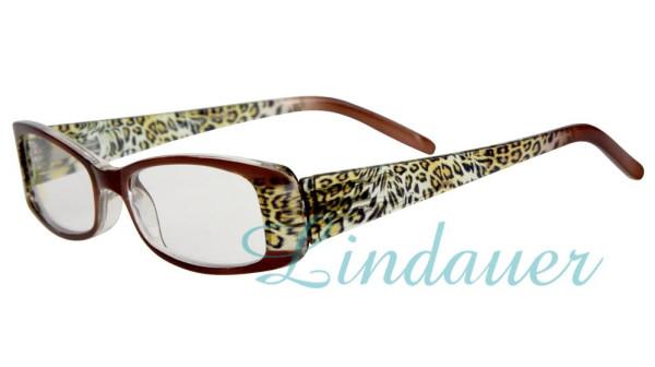 Lesehilfe; braun/Leopard